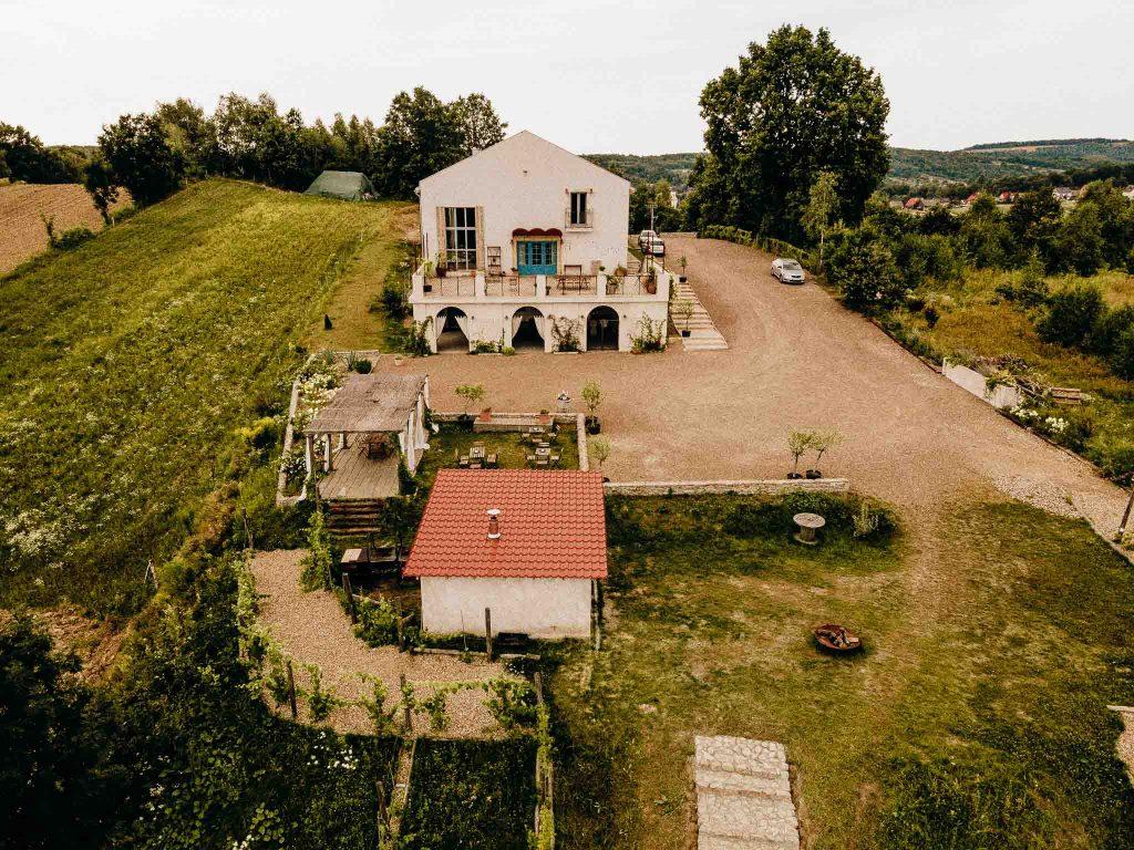 villa love polska toskania widok z góry